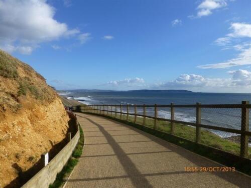 Local Beach at Barton On Sea